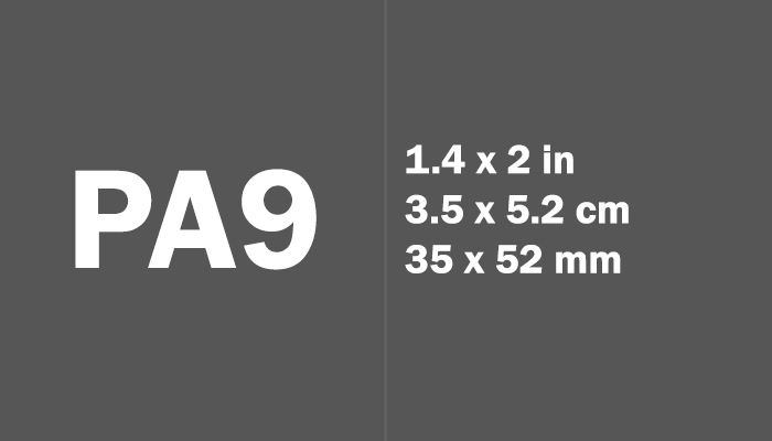 PA9 Paper Size Dimensions