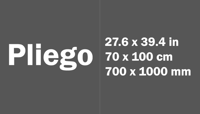 Pliego Paper Size Dimensions