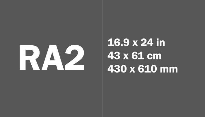 RA2 Paper Size Dimensions