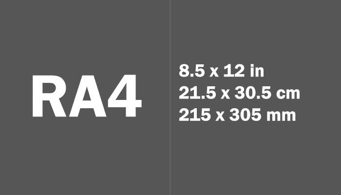 RA4 Paper Size Dimensions