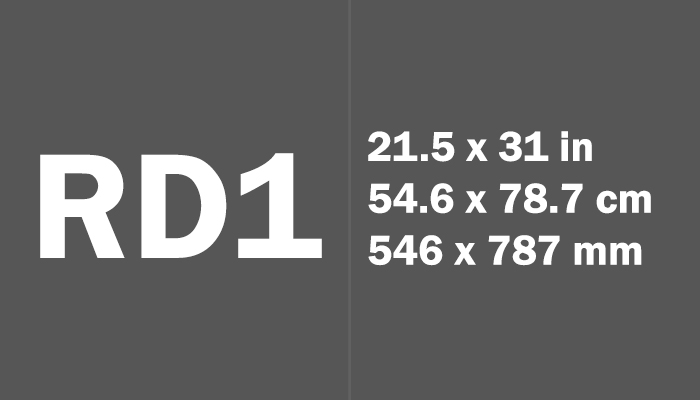 RD1 Paper Size Dimensions