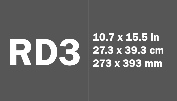 RD3 Paper Size Dimensions