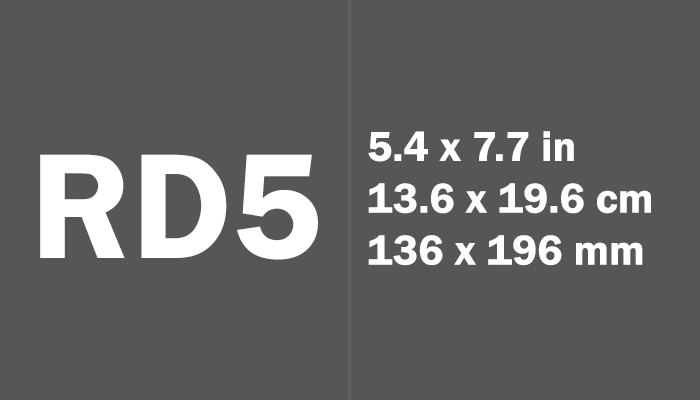 RD5 Paper Size Dimensions