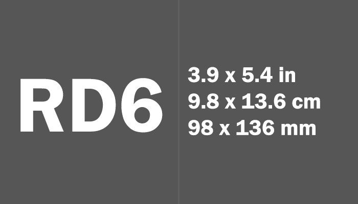 RD6 Paper Size Dimensions