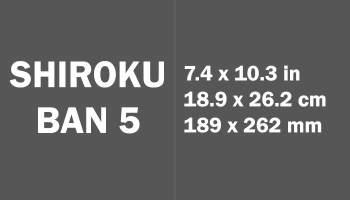 Shiroku ban 5 Paper Size in cm mm