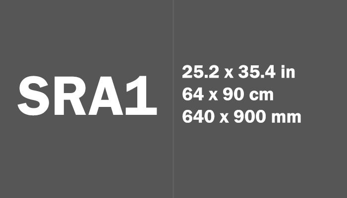 SRA1 Paper Size in cm mm