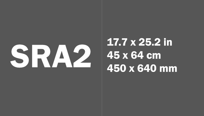 SRA2 Paper Size in cm mm