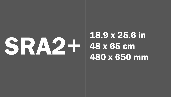 SRA2+ Paper Size in cm mm