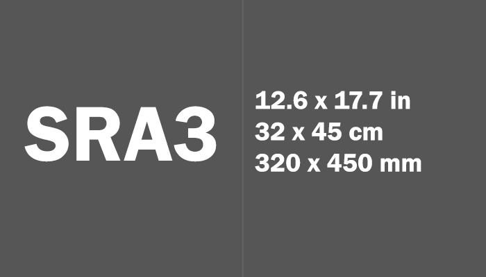 SRA3 Paper Size in cm mm