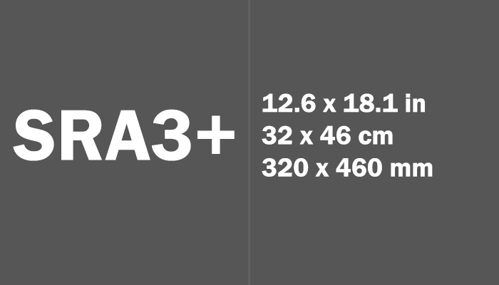 SRA3+ Paper Size in cm mm