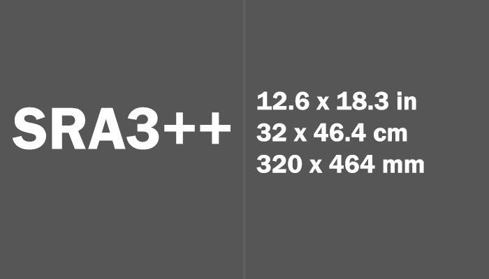 SRA3++ Paper Size Dimensions