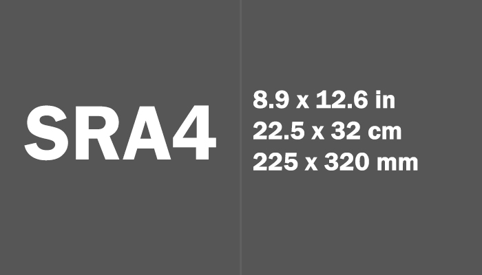 SRA4 Paper Size in cm mm