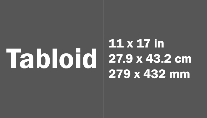 Tabloid Paper Size Dimensions