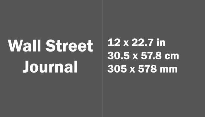 Wall Street Journal Paper Size Dimensions